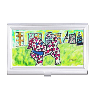 Dalmatian valentine business card holder