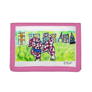 Dalmatian valentine tri-fold wallet