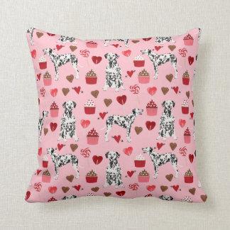 Dalmatian Valentines Love dog pillow