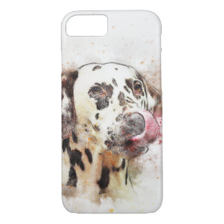 Dalmatian Watercolour Dog Design iPhone 7 Case
