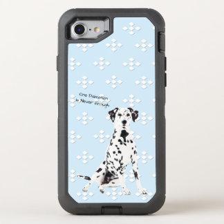 Dalmatian, White Diamonds on Blue OtterBox Defender iPhone 8/7 Case