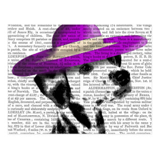 Dalmatian With Purple Wide Brimmed Hat Postcard