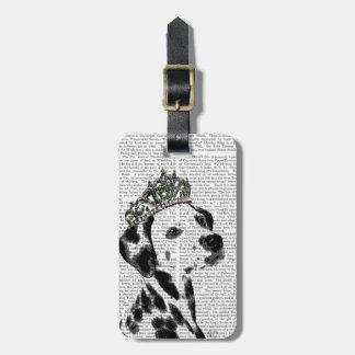 Dalmatian with Tiara 2 Luggage Tag