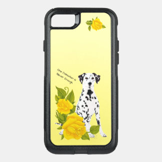 Dalmatian, with Yellow Roses OtterBox Commuter iPhone 8/7 Case
