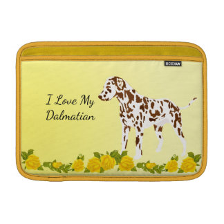 Dalmatian with Yellow roses Sleeves For MacBook Air