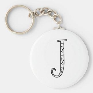 Dalmatians Dots J Keychain