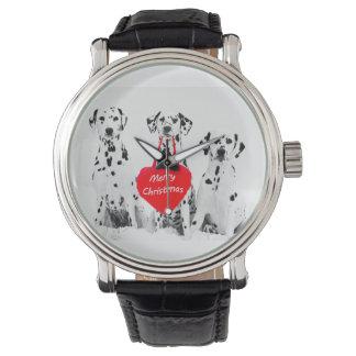 Dalmatians Wishing Merry Christmas watch