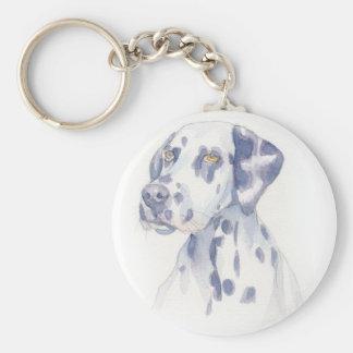 Dalmation Basic Round Button Keychain