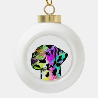 Dalmation Ceramic Ball Christmas Ornament