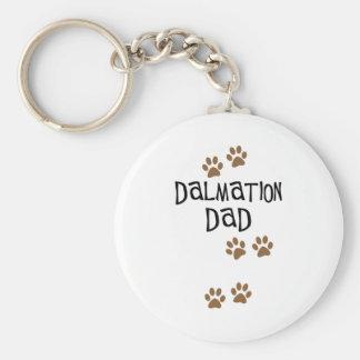 Dalmation Dad Basic Round Button Keychain