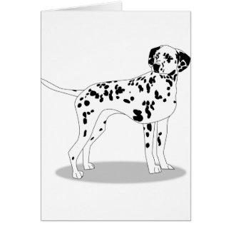 Dalmation Dog Card