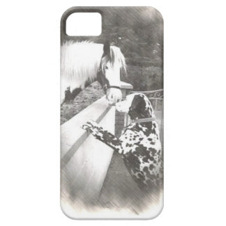 Dalmation dog Dolly with horse iPhone 5 Case
