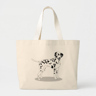 Dalmation Dog Large Tote Bag