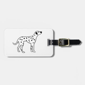 Dalmation Dog Luggage Tag