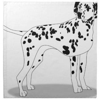 Dalmation Dog Napkin