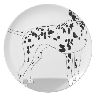 Dalmation Dog Plate