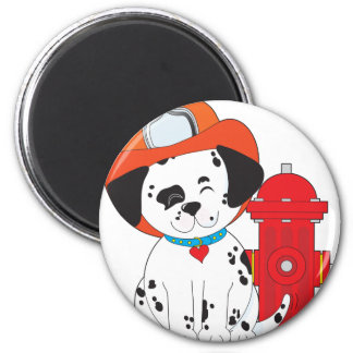 Dalmation Fire Dog 2 Inch Round Magnet