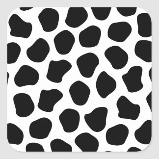 Dalmation Print Square Sticker