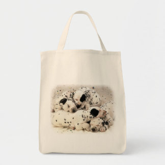 Dalmation Puppies Tote Bag