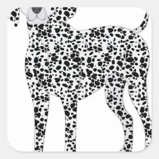 Dalmation Square Sticker