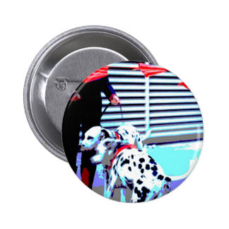Dalmations in Red Kerchiefs at Parade 2 Inch Round Button