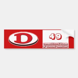 Dalton Football 49 winning years Bumper Sticker