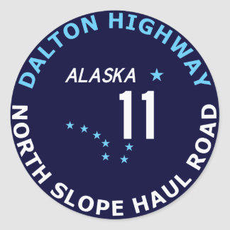 Dalton Highway, North Slope Haul Road Classic Round Sticker
