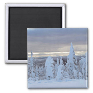 Dalton Highway snow in early winter Magnet