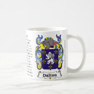 Dalton, the origin and meaning on a mug