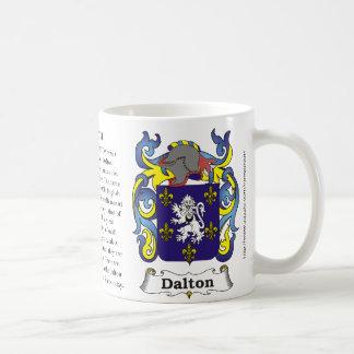 Dalton, the origin and meaning on a mug