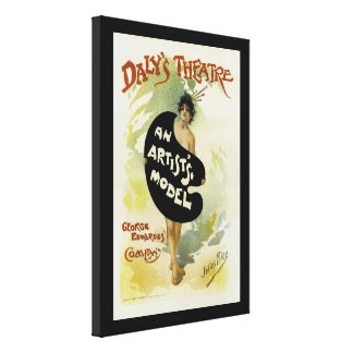 Daly's Theatre ~ An Artist's Model Canvas Print