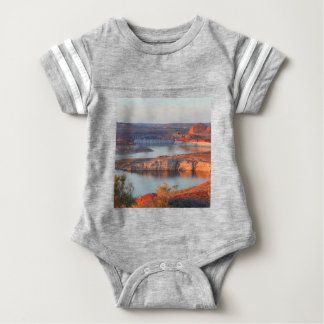 Dam and Bridge at sunrise Baby Bodysuit