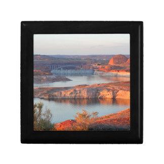Dam and Bridge at sunrise Gift Box
