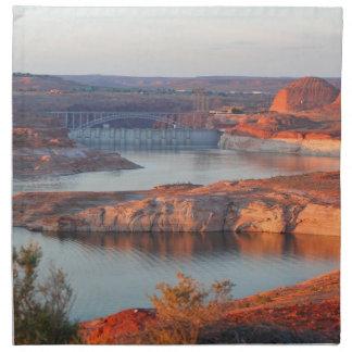 Dam and Bridge at sunrise Napkin
