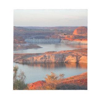Dam and Bridge at sunrise Notepad