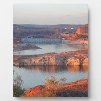 Dam and Bridge at sunrise Plaque