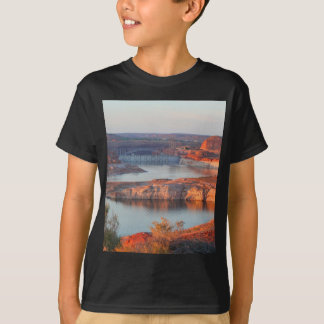 Dam and Bridge at sunrise T-Shirt