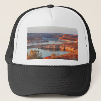 Dam and Bridge at sunrise Trucker Hat