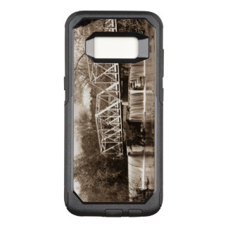 Dam at Finley River Sepia OtterBox Commuter Samsung Galaxy S8 Case