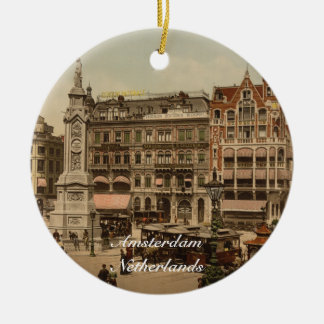 Dam Square, Amsterdam, Netherlands Ceramic Ornament