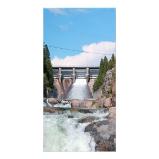 Dam Water Release Custom Photo Card