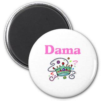 Dama 2 Inch Round Magnet