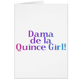 Dama de la Quince Girl Greeting Card