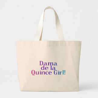 Dama de la Quince Girl Large Tote Bag