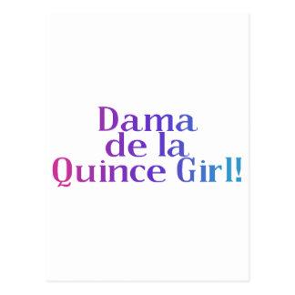 Dama de la Quince Girl Postcard