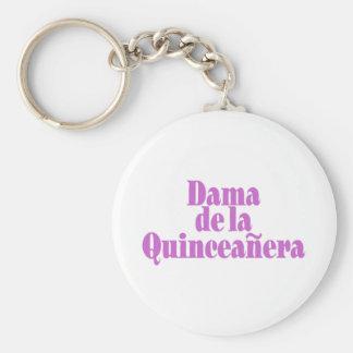 Dama de las Quinceanera Basic Round Button Keychain