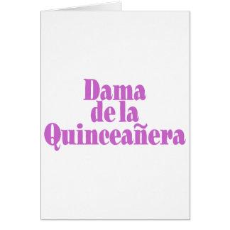 Dama de las Quinceanera Greeting Card