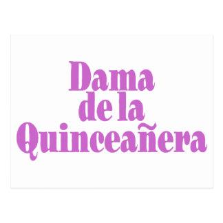 Dama de las Quinceanera Postcard