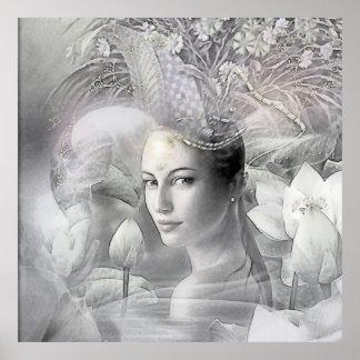 Dama del Loto Poster