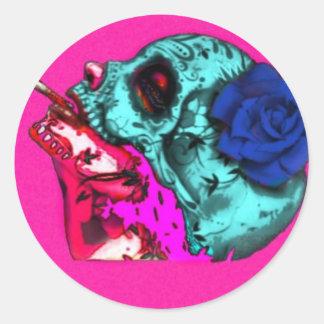 dama descorazonada round sticker